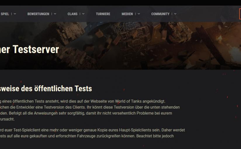 Öffentlicher Testserver